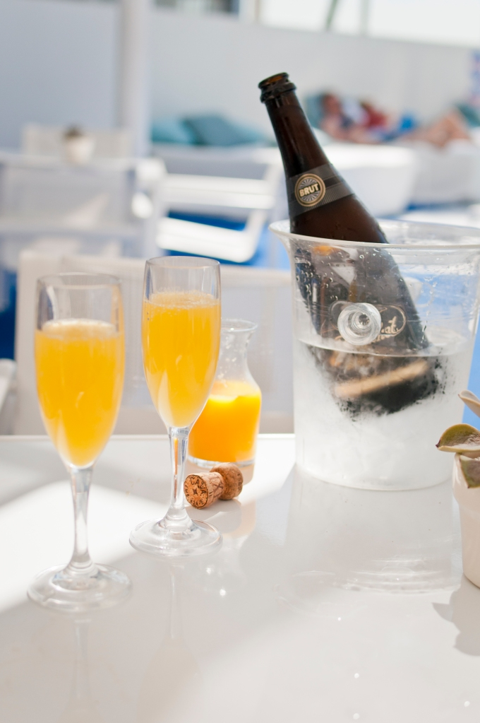 Pool-side Mimosas at The Standard Hotel